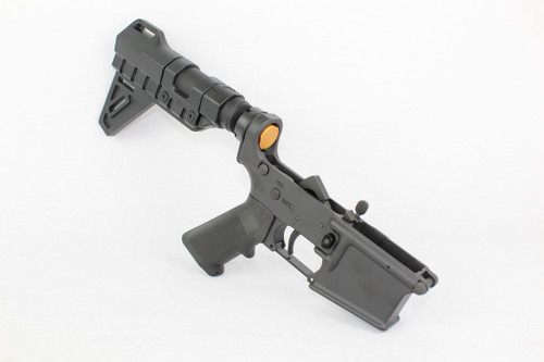 ZAVIAR BLACK CERAKOTED COMPLETE LOWER RECEIVER WITH TRINITY BREACH BRACE