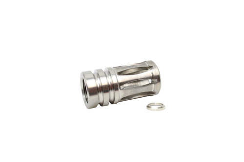 ZAVIAR 5/8x24 THREADED STAINLESS STEEL A2 FLASH HIDER
