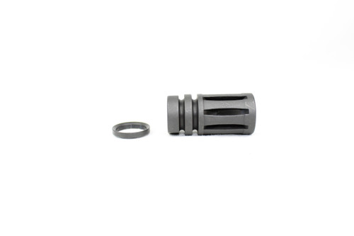 ZAVIAR 5/8x24 THREADED BLACK A2 FLASH HIDER