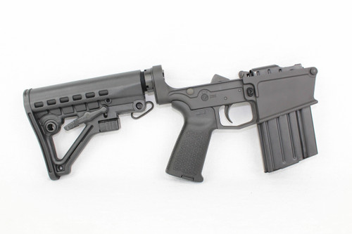 ZAVIAR BLACK CERAKOTED COMPLETE 308 WIN LOWER RECEIVER / PREDATOR STOCK / MAGPUL GRIP / 20RD MAGAZINE