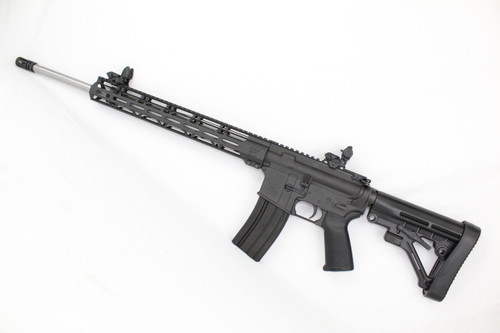 "ZAVIAR .224 VALKYRIE 22"" STAINLESS STEEL COMPLETE RIFLE / 1:7 TWIST / FLIP UP SIGHTS / PREDATOR STOCK / 15"" MLOK HANDGUARD"