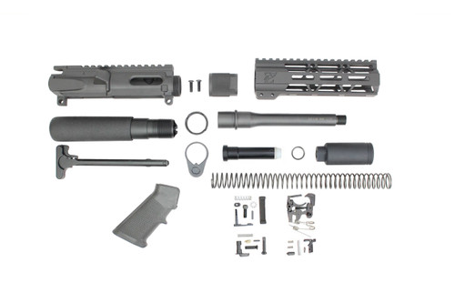 "ZAVIAR 9MM 'STINGER PDW SERIES' BUILDER KIT / 6.5""-7.5"" NITRIDE / 1:10 TWIST / 7"" MLOK HANDGUARD"