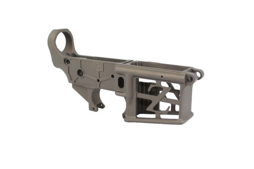 ZAVIAR MIDNIGHT BRONZE CERAKOTED SKELETONIZED MIL-SPEC AR15 Stripped Lower Receiver