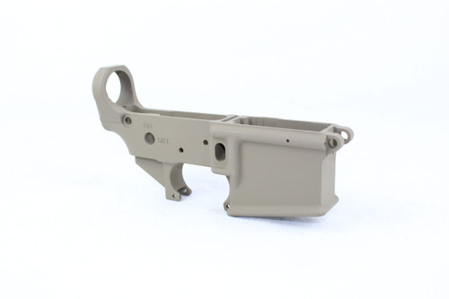 Zaviar FDE CERAKOTED MIL-SPEC AR15 Stripped Lower Receiver