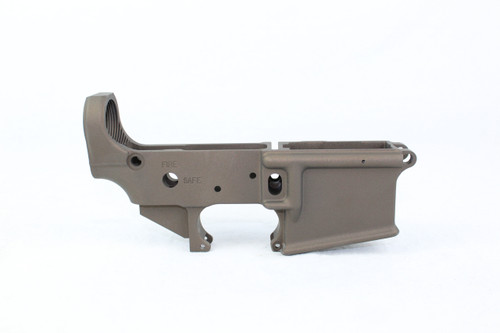 Zaviar MIDNIGHT BRONZE CERAKOTED MIL-SPEC AR15 Stripped Lower Receiver