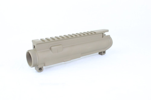ZAVIAR FDE CERAKOTED MIL-SPEC AR15 STRIPPED UPPER RECEIVER