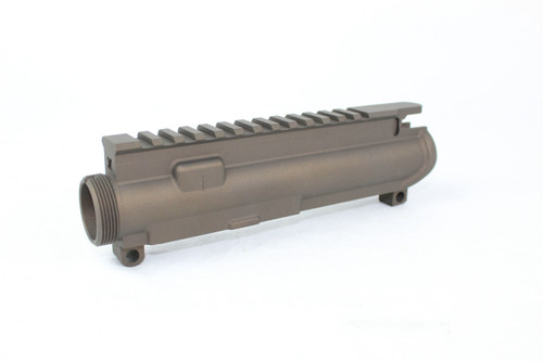 ZAVIAR MIDNIGHT BRONZE CERAKOTED MIL-SPEC AR15 STRIPPED UPPER RECEIVER