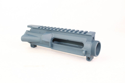 ZAVIAR TITANIUM BLUE CERAKOTED MIL-SPEC AR15 STRIPPED UPPER RECEIVER