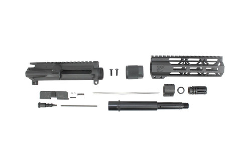 "ZAVIAR 7.5"" NITRIDE 300AAC BLACKOUT UPPER KIT / 1:8 TWIST / 7"" MLOK HANDGUARD"