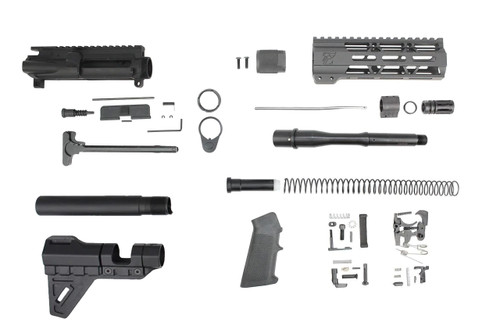 "300AAC Blackout 'Special Ops Series' 7.5"" Nitride Builder Kit / 1:8 Twist / 7"" MLOK Handguard"