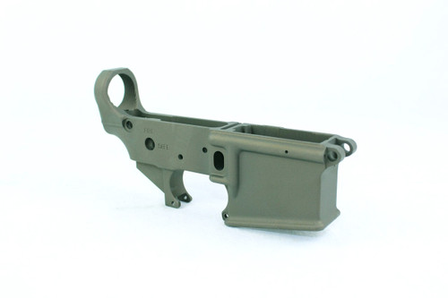 Zaviar OD GREEN CERAKOTED MIL-SPEC AR15 Stripped Lower Receiver