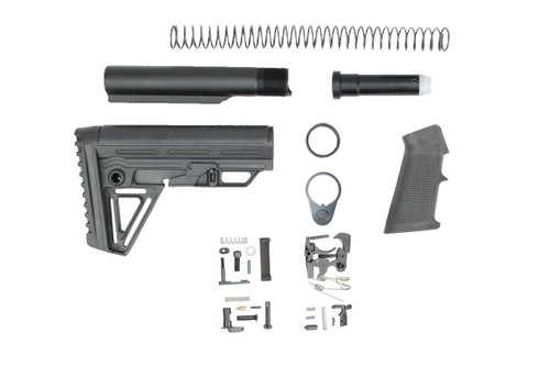 Zaviar Alpha Buttstock Lower Build Kit / Lower Parts Kit - .223/5.56 Black Trigger and Hammer