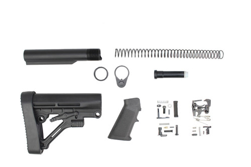 Zaviar Predator Buttstock Lower Build Kit / Lower Parts Kit - .223/5.56 Black Trigger and Hammer