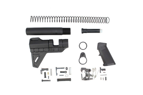 Zaviar Trinity Breach Brace Lower Build Kit / Lower Parts Kit - .223/5.56 Black Trigger and Hammer