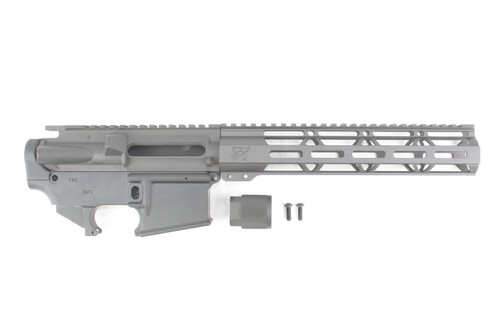 "ZAVIAR Black Cerakote AR-15 Forged Multi-Cal Receiver Set with 10"" MLOK Lightweight Handguard"