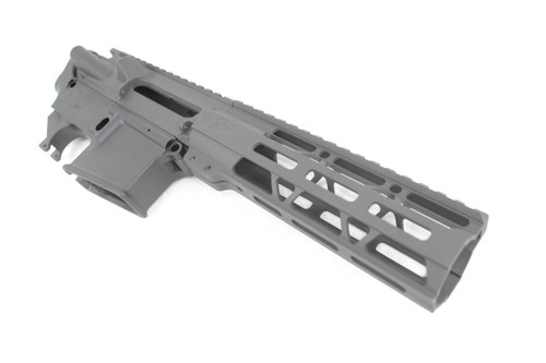 "ZAVIAR Black Cerakote AR-15 Forged Multi-Cal Receiver Set with 7"" MLOK Lightweight Handguard"