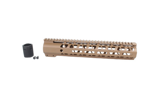 "COYOTE TAN CERAKOTED 10"" MLOK Free-Float Handguard AR-15"