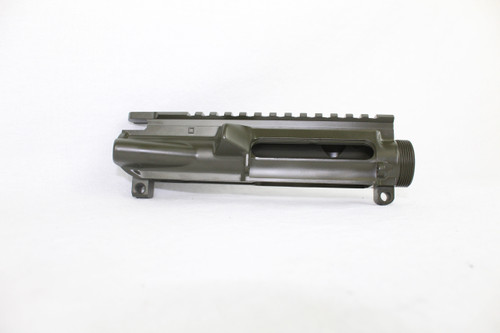 ZAVIAR FOREST GREEN CERAKOTED MIL-SPEC AR15 STRIPPED UPPER RECEIVER