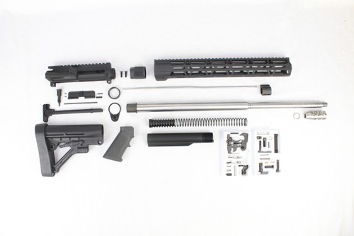 "ZAVIAR 22"" .224 VALKYRIE STAINLESS STEEL BUILDER KIT / 1:7 TWIST / PREDATOR STOCK / STAINLESS STEEL COMP BRAKE / 15"" MLOK HANDGUARD"