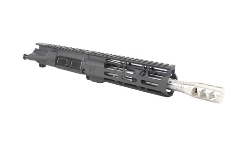 "ZAVIAR 8.5"" 5.56 NATO STAINLESS STEEL CARBINE LENGTH UPPER RECEIVER / 1:7 TWIST / STAINLESS STEEL COMP BRAKE / 7"" MLOK HANDGUARD"