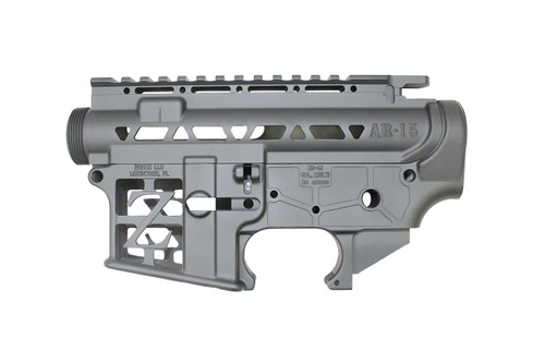 ZAVIAR BUNDLE / BLACK CERAKOTED SKELETONIZED MIL-SPEC AR15 Stripped Lower Receiver & STRIPPED SKELETONIZED UPPER RECEIVER