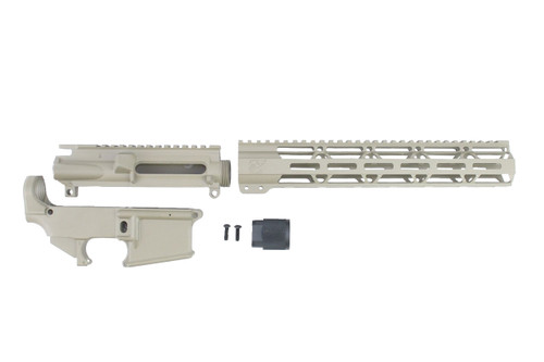 "MAGPUL FDE CERAKOTE SET - UPPER RECEIVER / 80% LOWER RECEIVER / 12"" MLOK HANDGUARD"