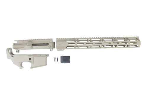 "MAGPUL FDE CERAKOTE SET - UPPER RECEIVER / 80% LOWER RECEIVER / 15"" MLOK HANDGUARD"