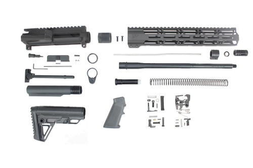 "ZAVIAR 'Premium Barrel' 16"" .223 WYLDE NITRIDE SOCOM BUILDER KIT / MID LENGTH / 1:8 TWIST / ALPHA STOCK / 12"" MLOK HANDGUARD"