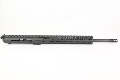 "(AR-10) .308 WIN 20"" Nitride Right Handed Side Charging Upper Receiver / 1:10 Twist / 15"" MLOK Handguard"