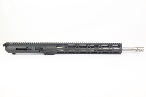 (AR-10) .308 WIN 18 Stainless Steel Right Handed Side Charging Upper Receiver  110 Twist  15 MLOK Handguard