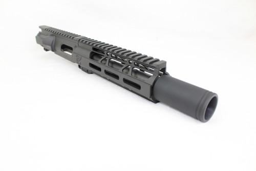 "Z9 'Stinger PDW' 9mm Assembled Upper Receiver   6.5"" Barrel   7"" M-LOK Handguard   Zaviar Flash Can Muzzle Device"