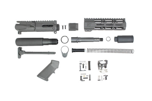 "AR9 - ZAVIAR 9mm 'STINGER PDW SERIES' BUILDER KIT / 4.5""-5.5"" NITRIDE 9MM / 1:10 TWIST / 7"" MLOK HANDGUARD"