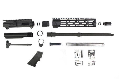 "9MM 'STINGER SERIES' BUILDER KIT 16"" PARKERIZED / 1:10 TWIST / 10"" MLOK HANDGUARD"