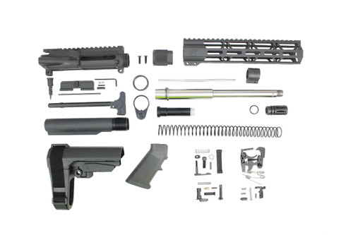"ZAVIAR 10.5"" STAINLESS STEEL 300AAC BLACKOUT BUILDER KIT / 1:8 TWIST / SBA3 BRACE / 10"" MLOK HANDGUARD"