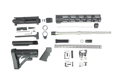"Zaviar 6.5 Grendel SA16 'Grendel' Series 20"" 1:8 Twist Stainless Steel Rifle Builder Kit with Predator Stock Kit 15"" MLOK Handguard"