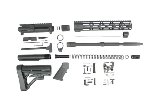 "Zaviar 6.5 Grendel SA16 'Grendel' Series 16"" 1:8 Twist Parkerized Carbine Builder Kit with Predator Stock Kit 12"" MLOK Handguard"