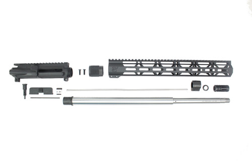 "ZAVIAR 20"" 6.5 GRENDEL STAINLESS STEEL UPPER KIT / 1:8 TWIST / 15"" MLOK HANDGUARD"