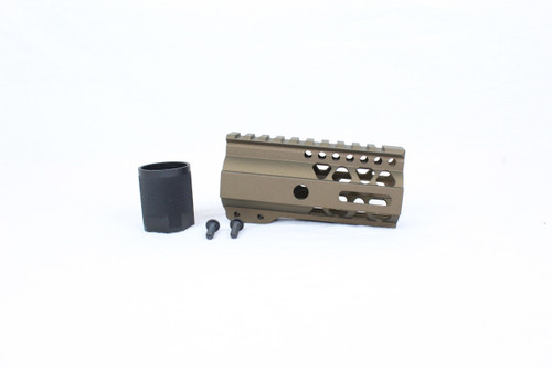 "ZAVIAR BURNT BRONZE CERAKOTED 4"" MLOK Free-Float Handguard AR-15"
