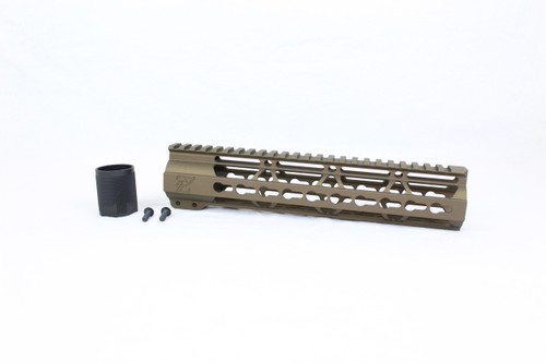 "ZAVIAR BURNT BRONZE CERAKOTED 7"" KEYMOD Free-Float Handguard AR-15"