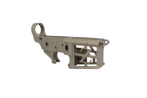 ZAVIAR BURNT BRONZE CERAKOTED SKELETONIZED MIL-SPEC AR15 Stripped Lower Receiver