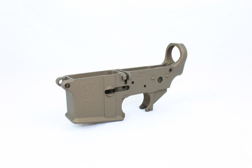 Zaviar BURNT BRONZE CERAKOTED MIL-SPEC AR15 Stripped Lower Receiver