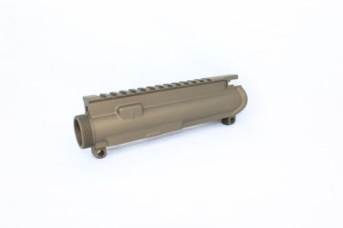 ZAVIAR BURNT BROZE CERAKOTED MIL-SPEC AR15 STRIPPED UPPER RECEIVER