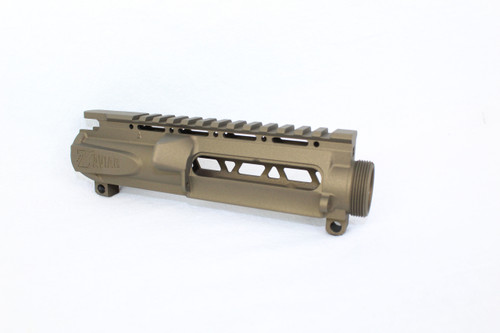 ZAVIAR BURNT BRONZE SKELETONIZED MIL-SPEC AR15 STRIPPED UPPER RECEIVER
