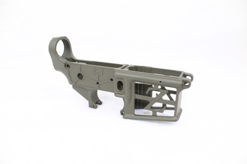 ZAVIAR MAGPULOD GREEN CERAKOTED SKELETONIZED MIL-SPEC AR15 Stripped Lower Receiver