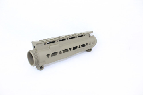 ZAVIAR MAGPUL FDE SKELETONIZED MIL-SPEC AR15 STRIPPED UPPER RECEIVER