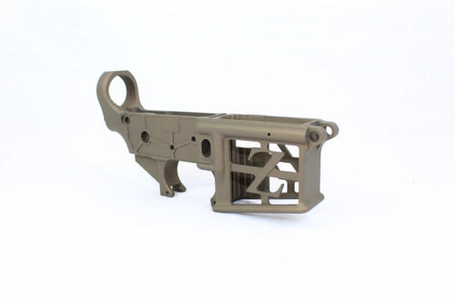 ZAVIAR BUNDLE / BURNT BRONZE CERAKOTED SKELETONIZED MIL-SPEC AR15 Stripped Lower Receiver & STRIPPED SKELETONIZED UPPER RECEIVER