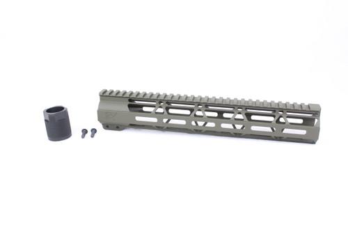 "Zaviar MAGPUL OD GREEN CERAKOTED 12"" MLOK Free-Float Handguard AR-15"