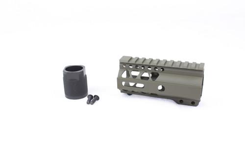"Zaviar MAGPUL OD GREEN CERAKOTED 4"" MLOK Free-Float Handguard AR-15"
