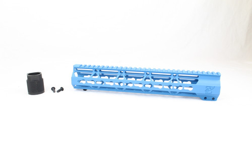 "Zaviar SEA BLUE CERAKOTED 12"" KEYMOD Free-Float Handguard AR-15"