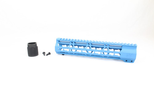"Zaviar SEA BLUE CERAKOTED 10"" KEYMOD Free-Float Handguard AR-15"
